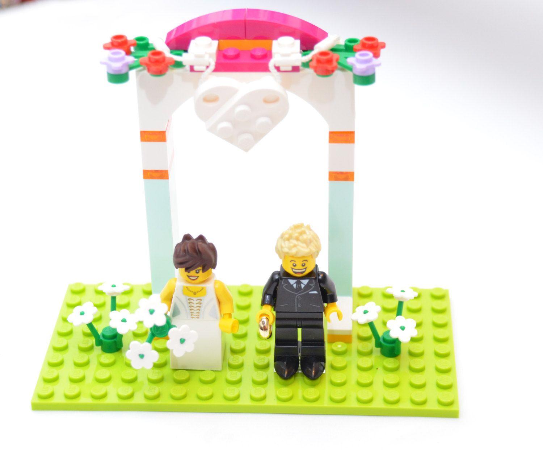 Custom Lego Minifigure Weding Favors, Bridal Cake Topper or display ...