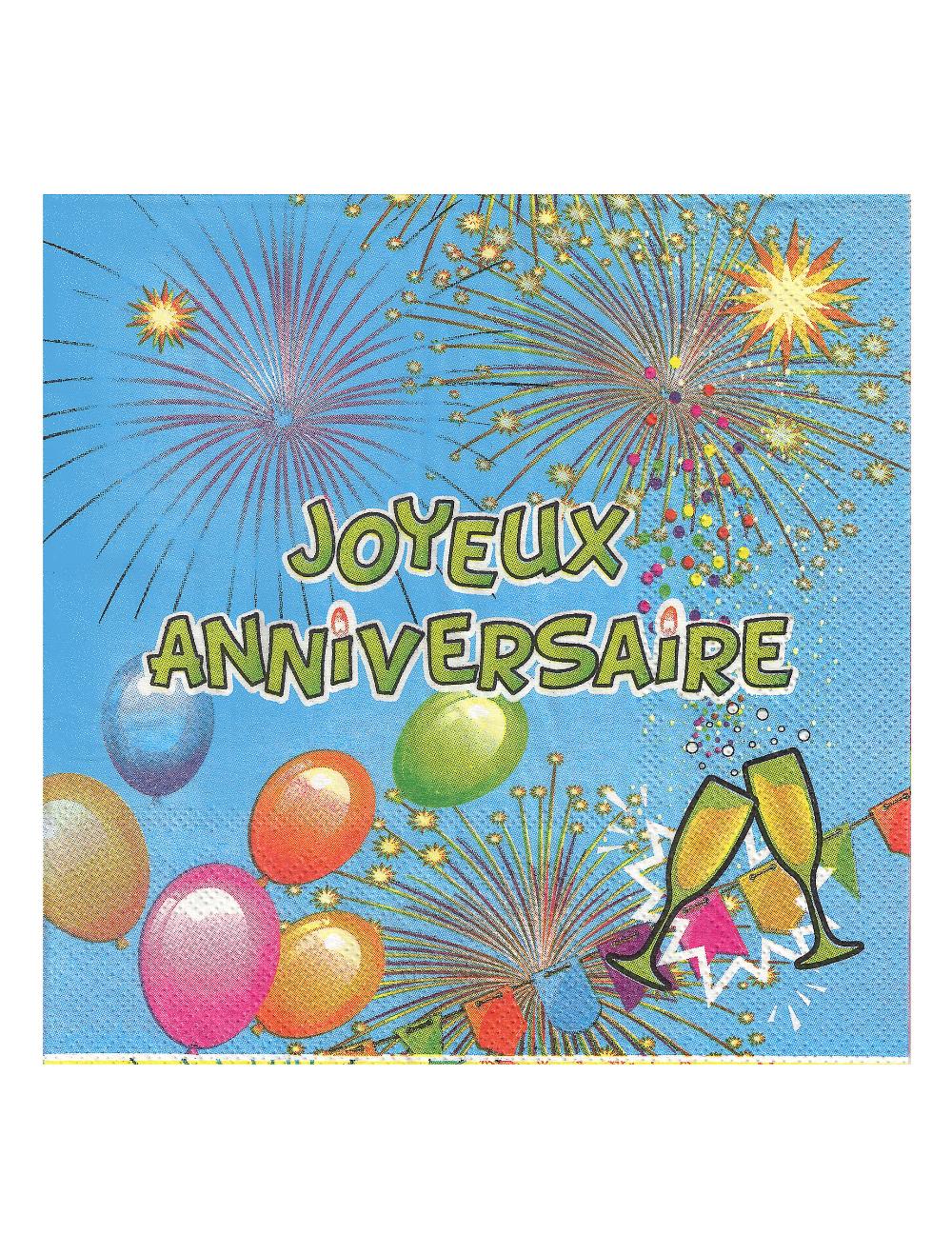Carte D Anniversaire Homme Gratuite A Imprimer Awesome 20 Serviettes En Papier Joyeux Ann Carte Anniversaire Carte Anniversaire A Imprimer Joyeuse Anniversaire