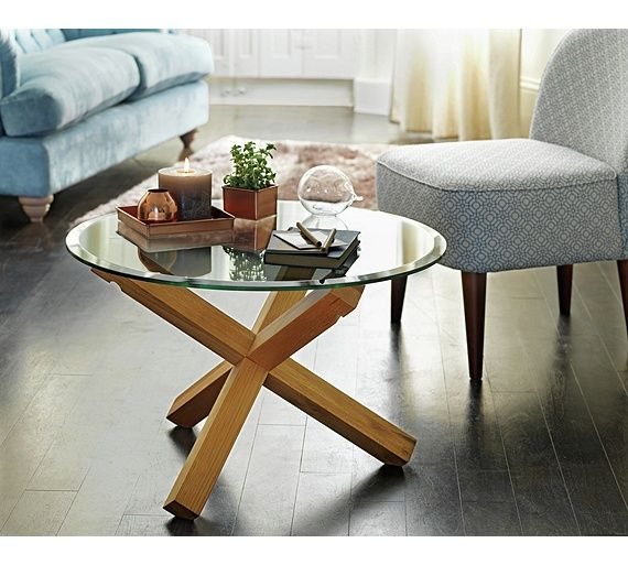 Buy Heart of House Oakington Glass Top Coffee Table Oak at Argos