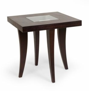 Genial Chocolate Wood Side Table