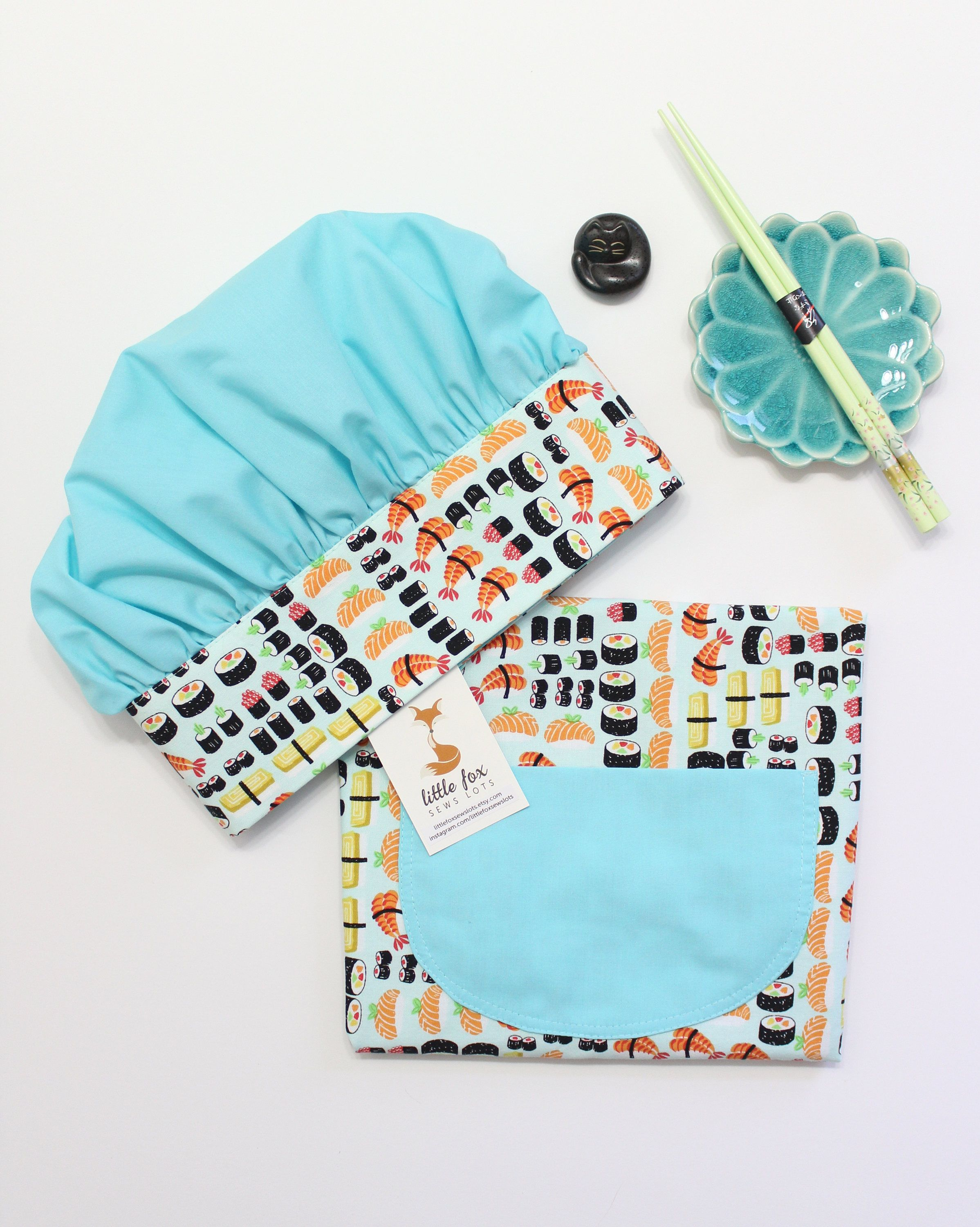 Sushi Kids Apron And Chef Hat, Children\'s Aprons, Apron For 3-6yrs ...