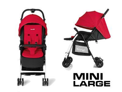 Passeggino Brevi Mini Large rosso.