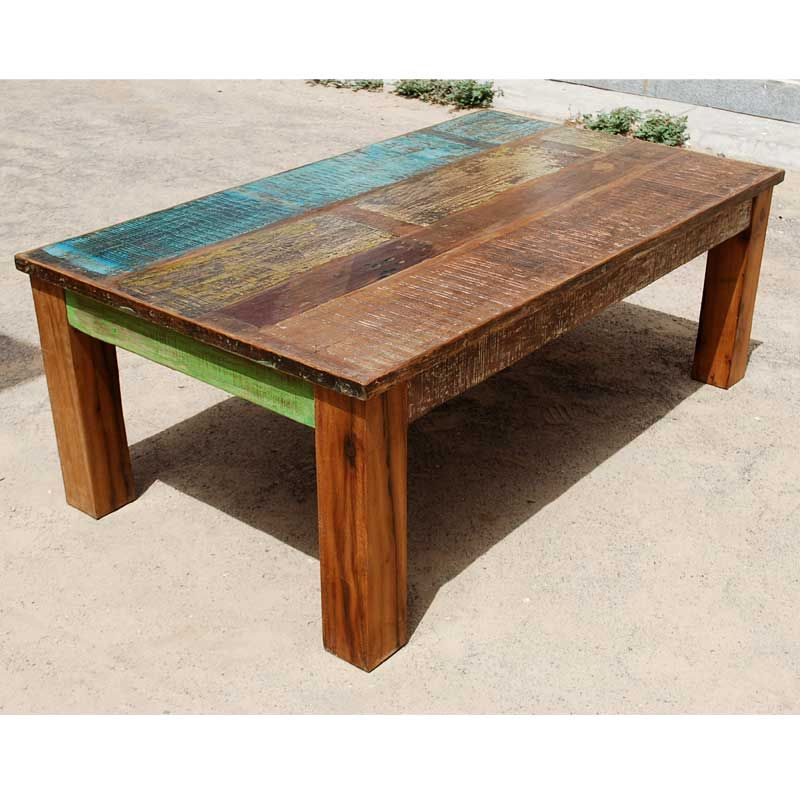 Appalachian rustic mixed wood coffee table rustic dining