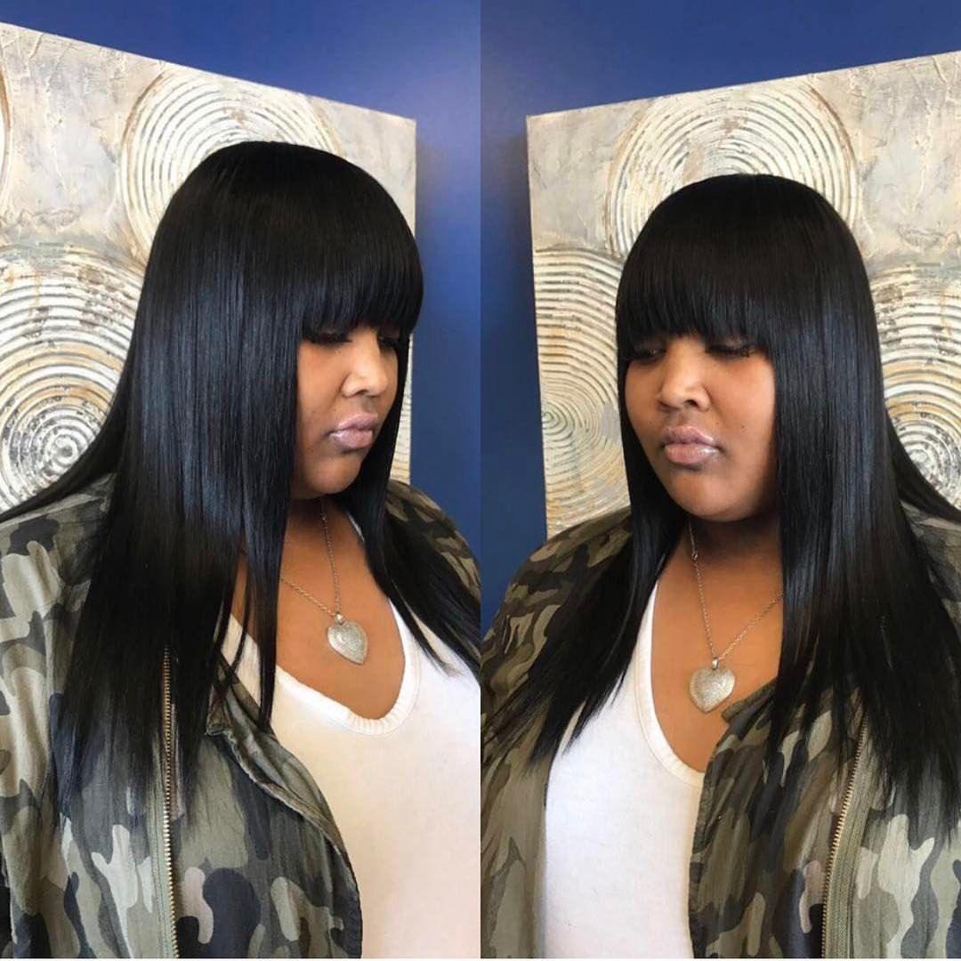 57 Likes 2 Comments Mzpritea Hair Salon Mzpritea Hair Salon On Instagram Quick Weave Quick Weave Hairstyles Long Weave Hairstyles Hairstyles With Bangs