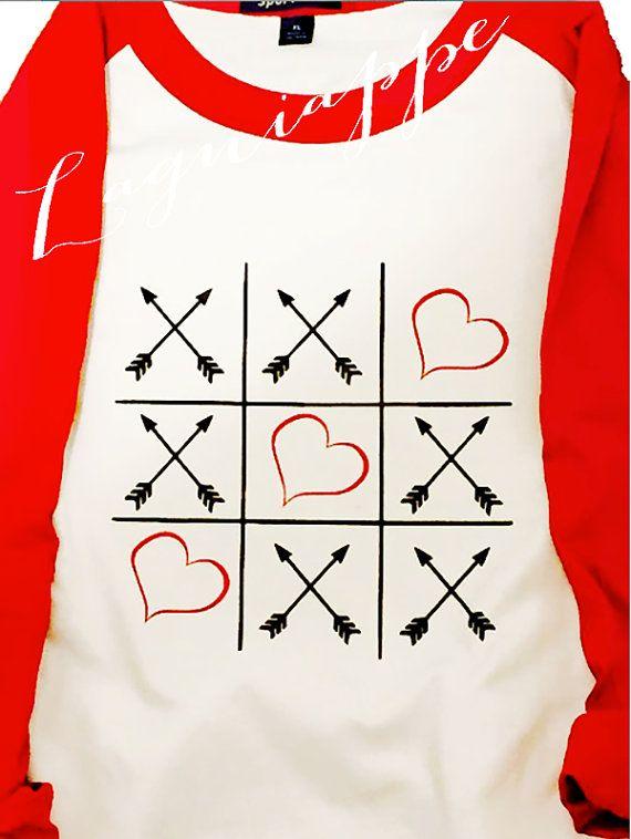Valentines Raglan Shirt Xoxo Shirt Valentine By Lagniappe985