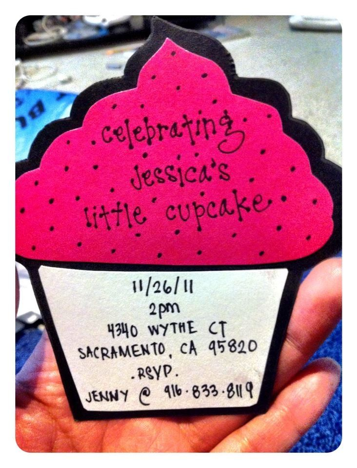 Cupcake baby shower invitation for baby girl   Arts and craft ...