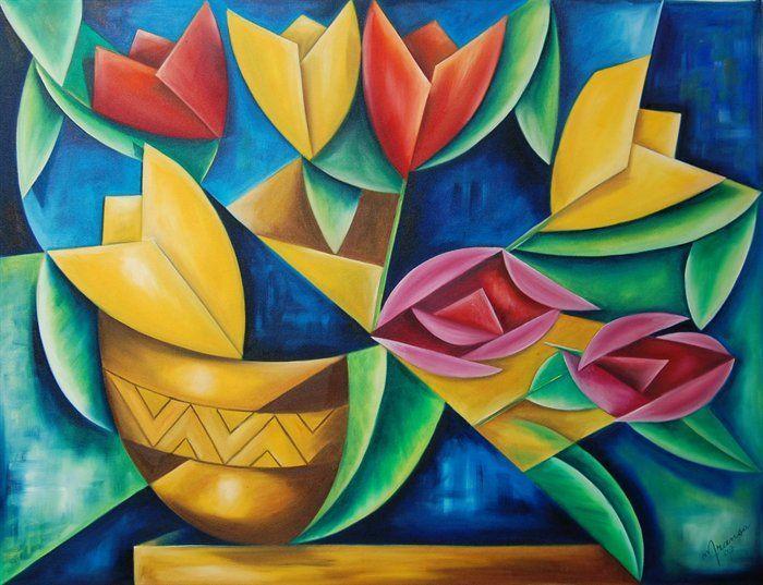 نقاشی کوبیسم عاشقانه