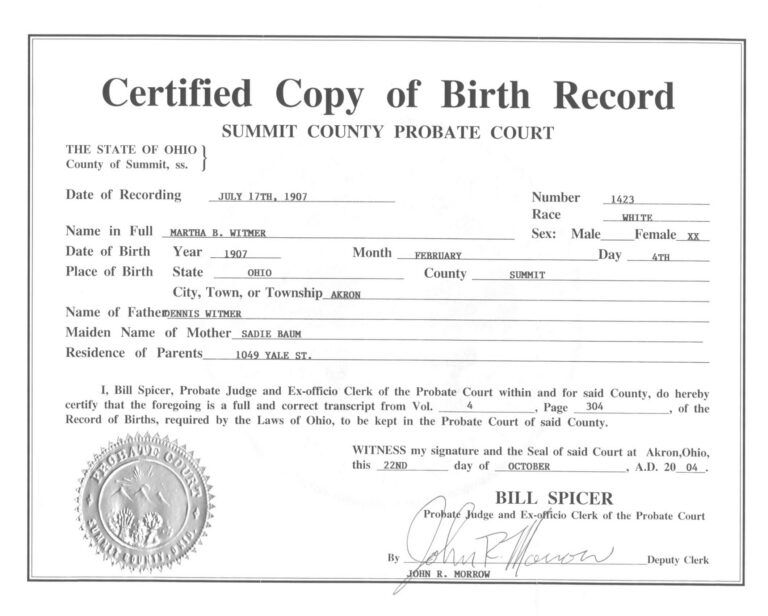 Live Birth Certificate Debt Loan Payoff Of Template With Birth