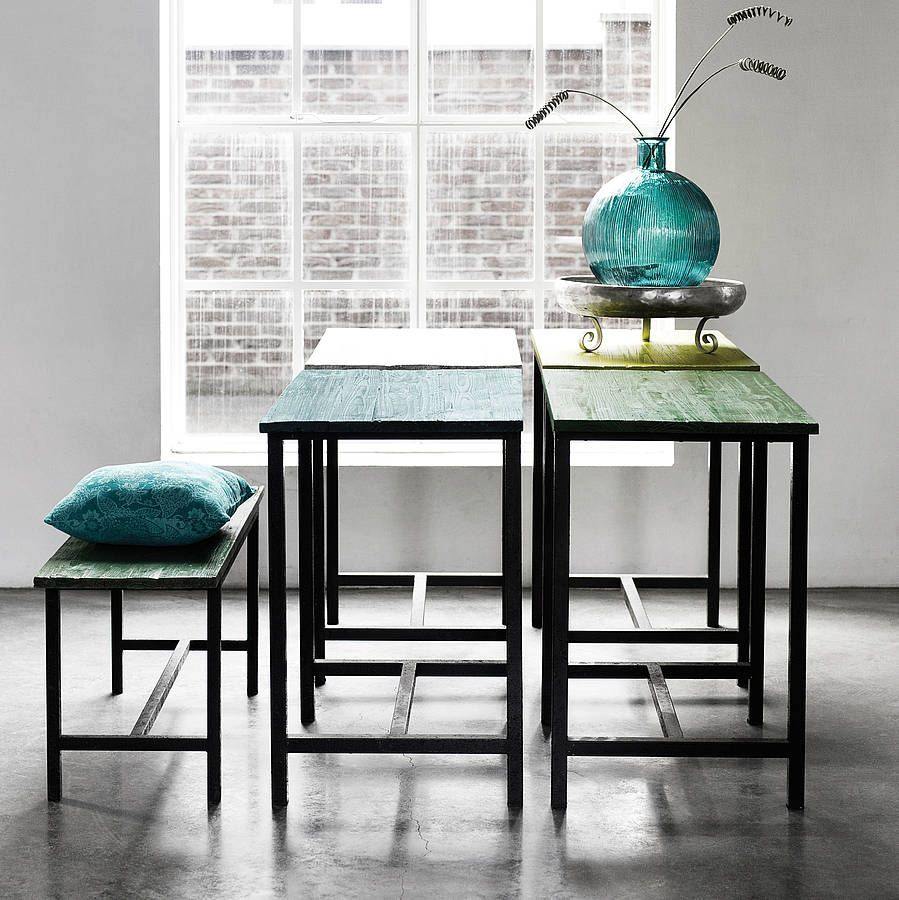 Wooden Bench With Metal Legs | Bench and Metals
