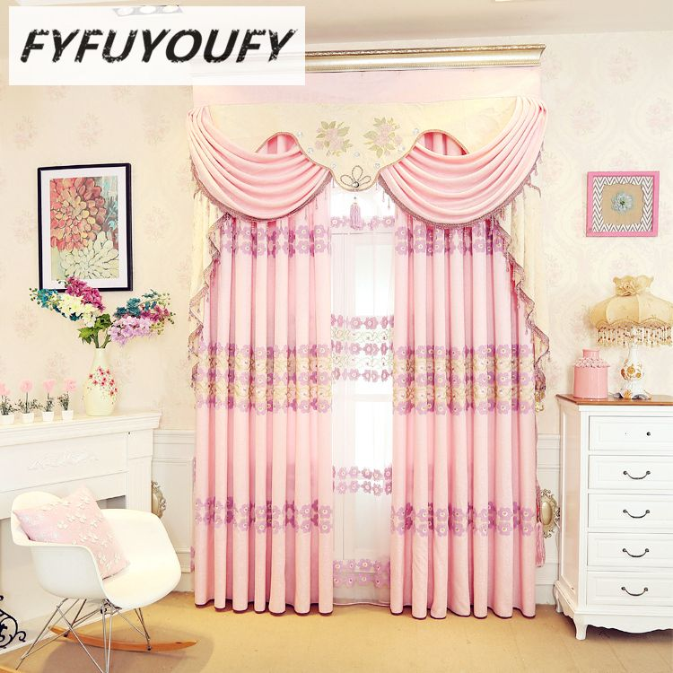 Custom-made European-style high-end custom embroidery villa Curtains ...