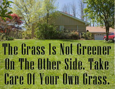 Words to Remember The grass is not greener on the other