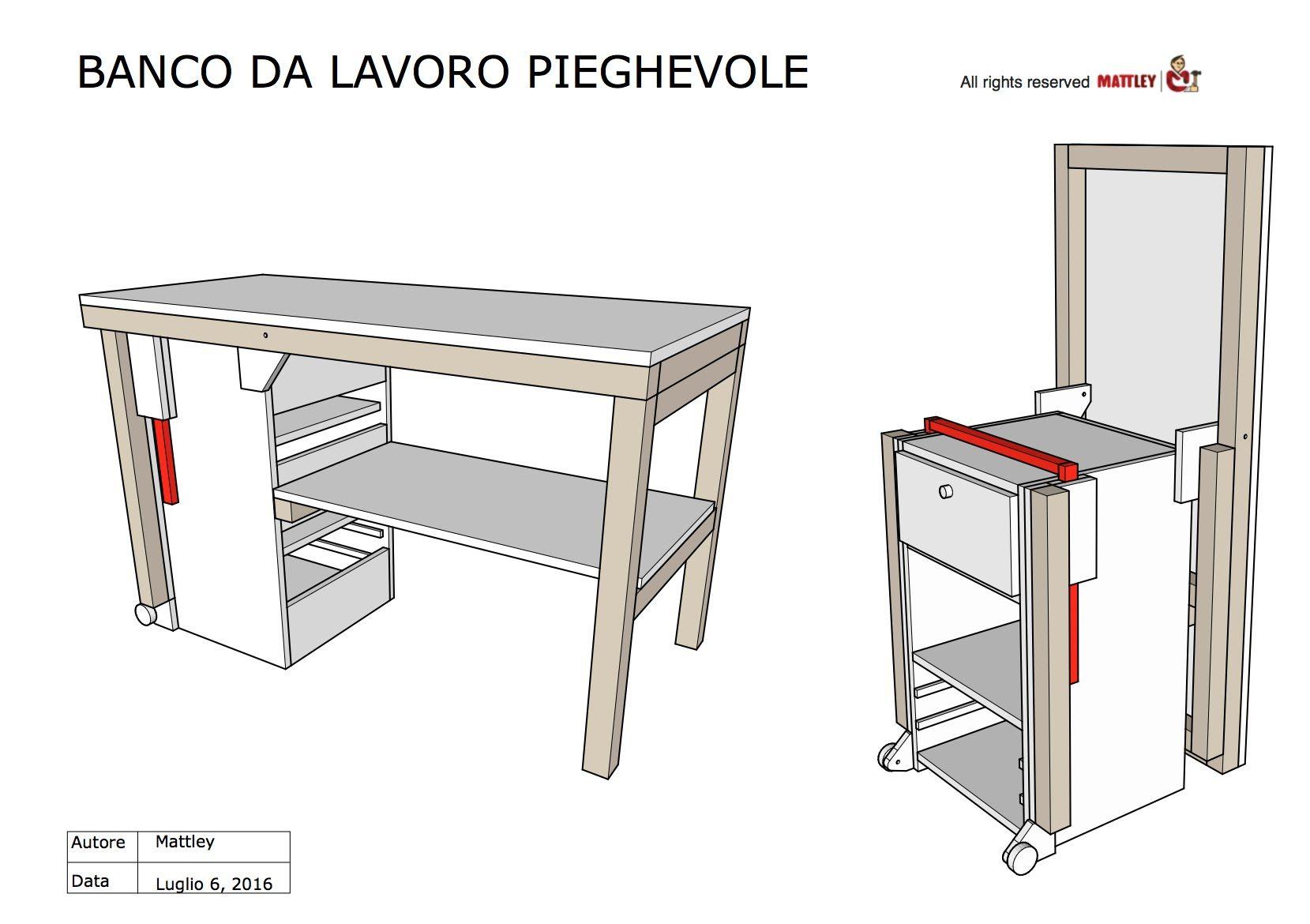 Fai da te progetto in pdf del banco da lavoro pieghevole for Progetti fai da te legno pdf