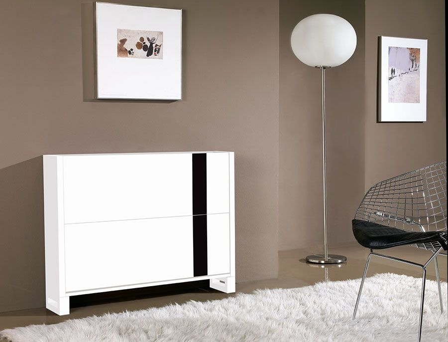 meuble chaussures design laqu blanc et noir elias