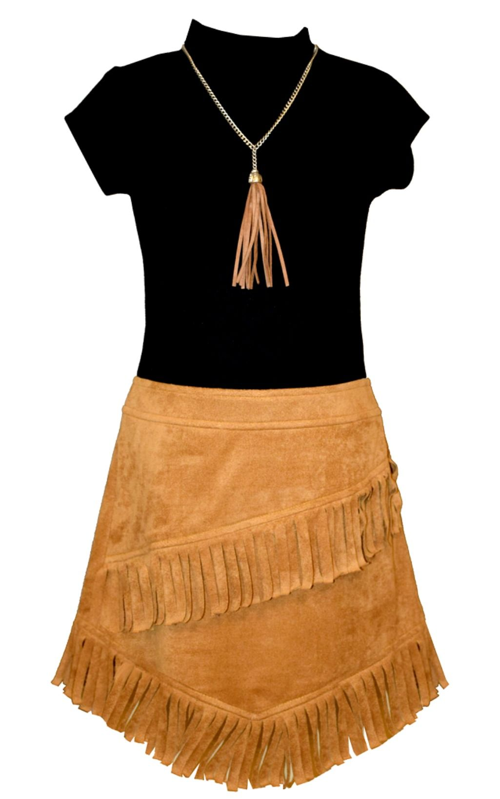 dbc614992b49 Bonnie Jean Girls Short Sleeve Knit Suede Dress with Necklace ...