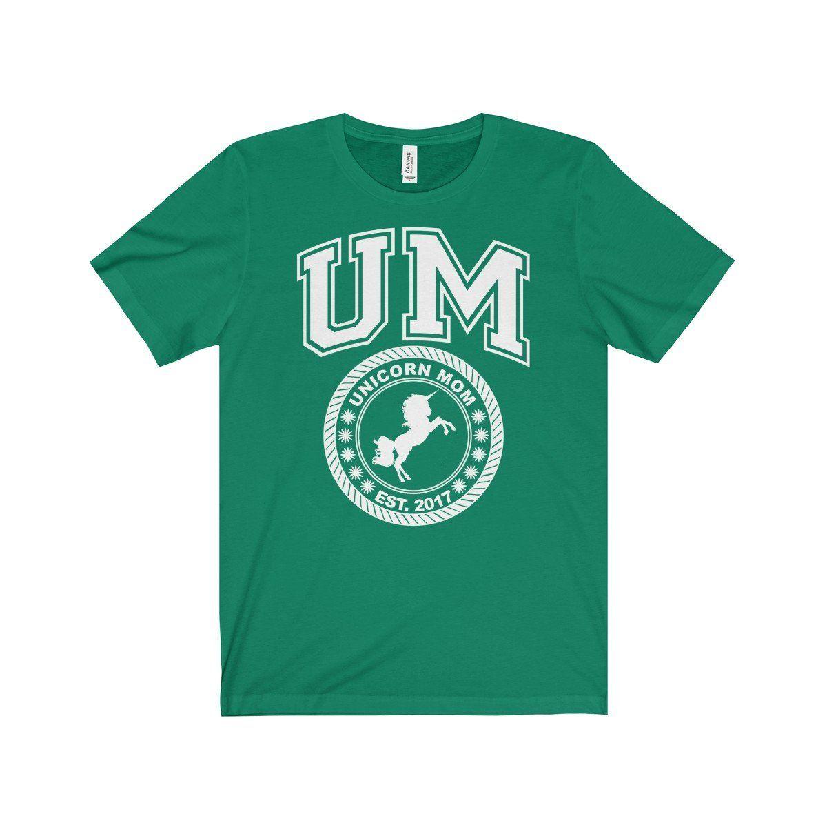Unicorn Mom Est. 2017 T-Shirt College Style New Mama Tee