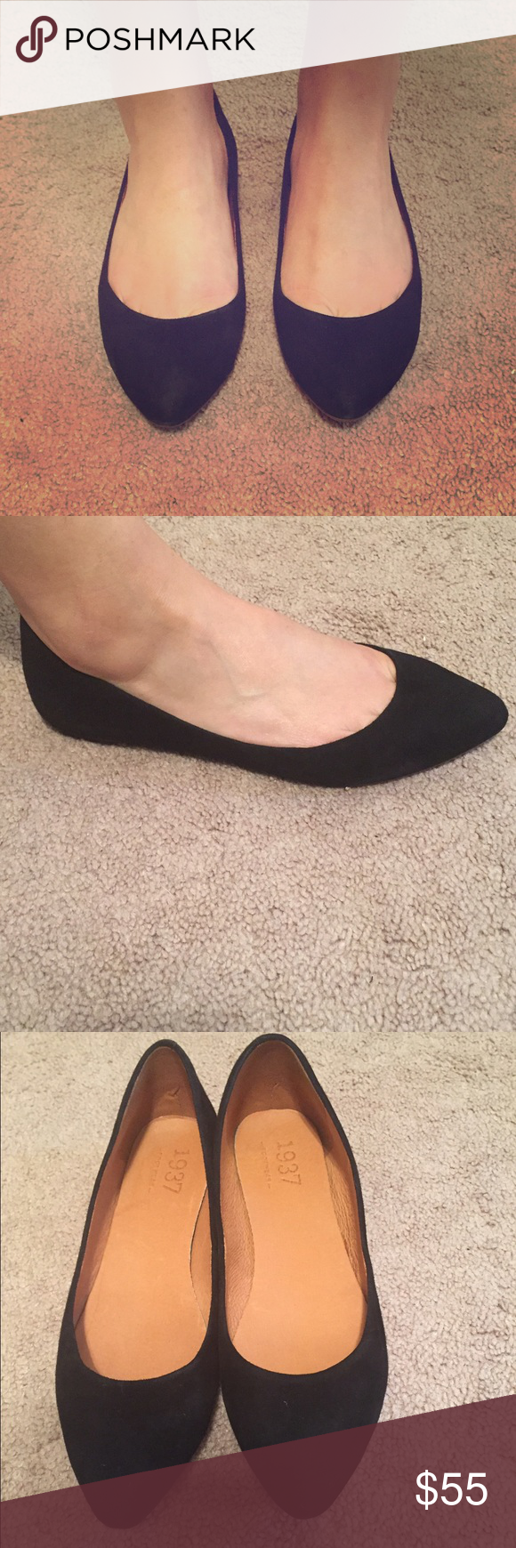 Madewell suede flats Re-posh. Never worn! Madewell Shoes Flats & Loafers