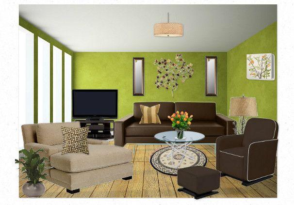 Subtle Earth Tone Living Room by michelagalliano Olioboard