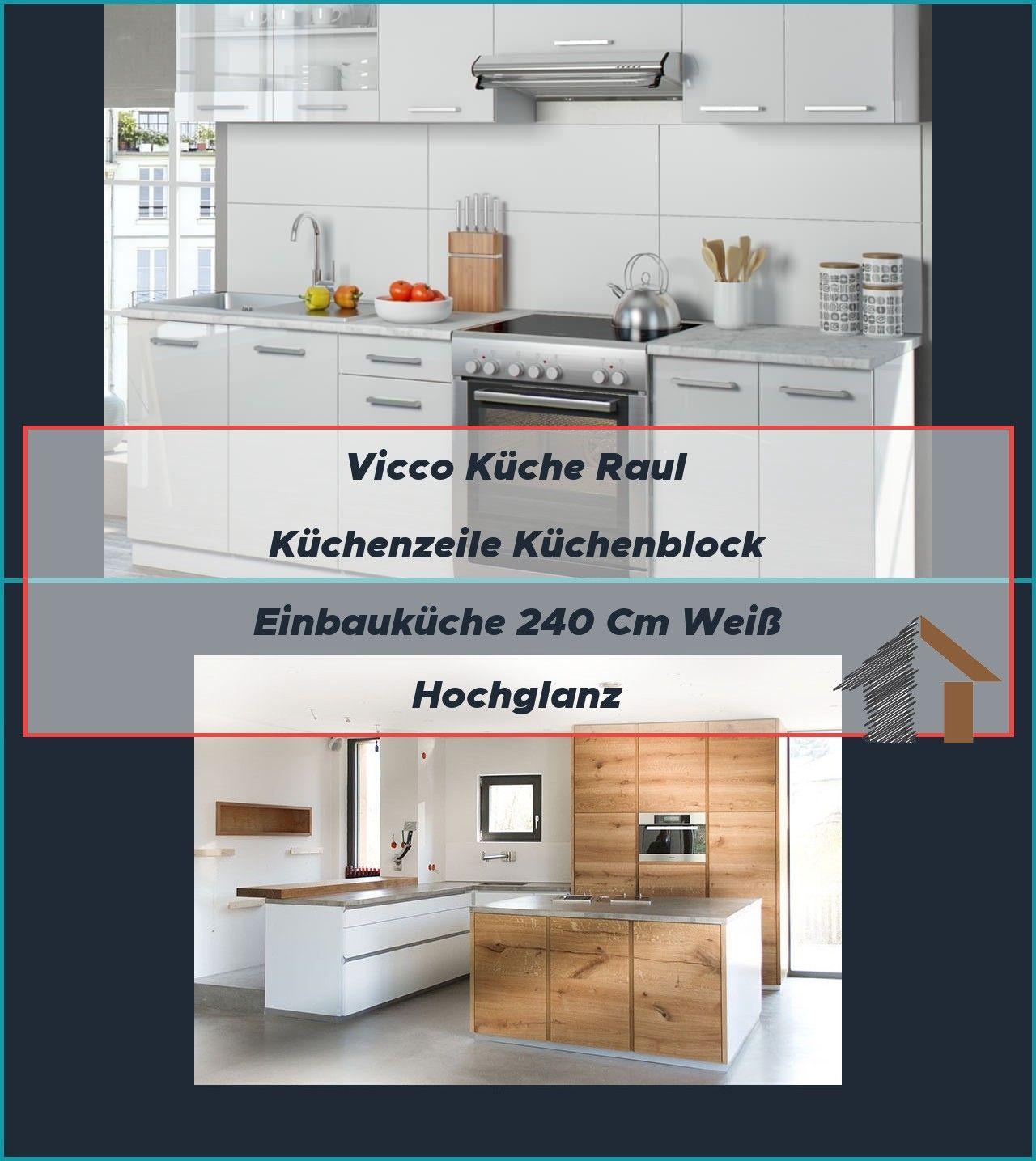 KÜCHE KÜCHENZEILE KÜCHENBLOCK MODERN 240 CM Einbauküche BETON