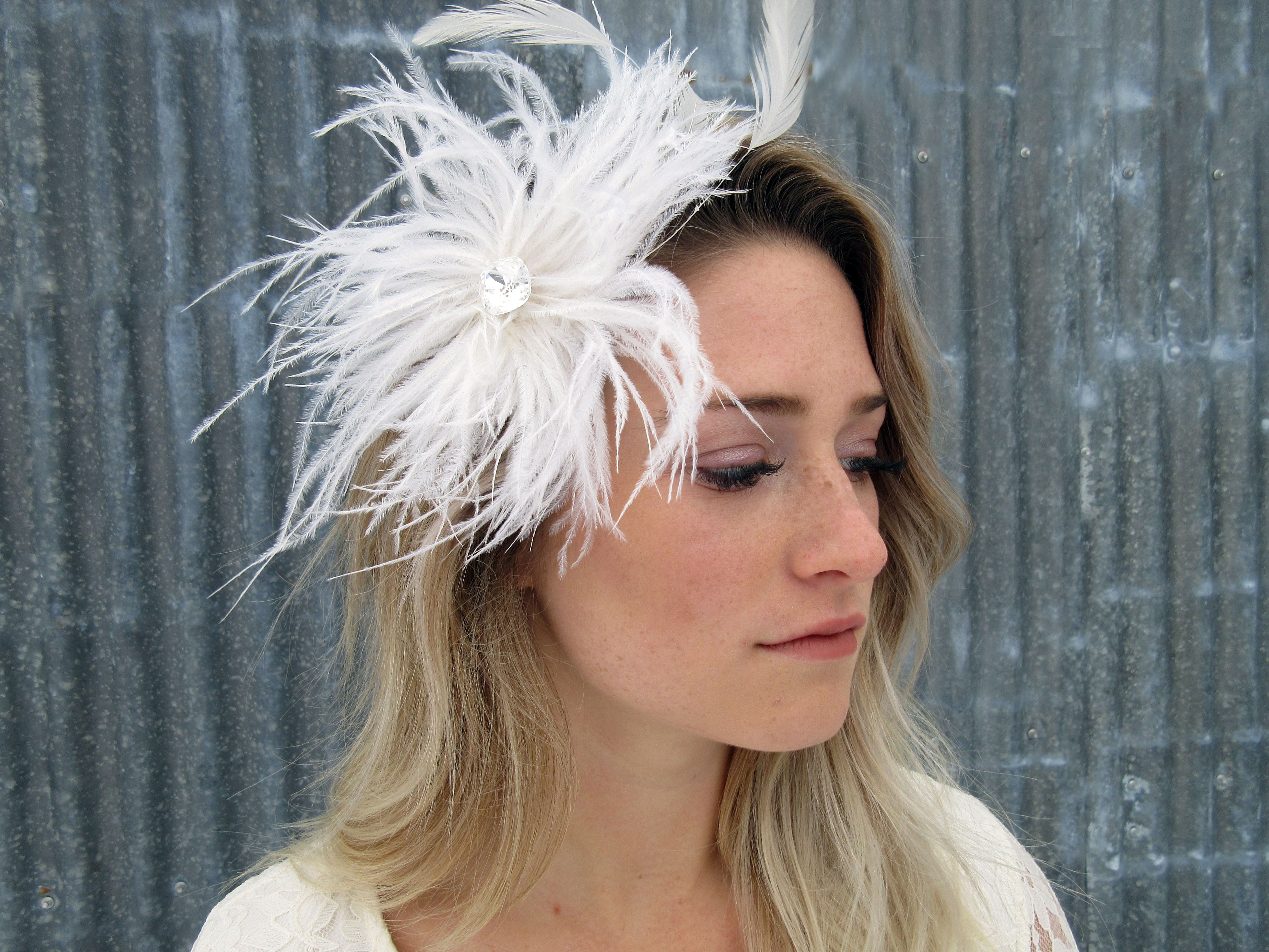 josphine feather fascinator | wedding hair accessories | pinterest