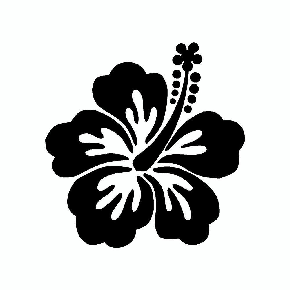 Hibiscus flower vinyl car sticker monogram it pinterest hibiscus flower vinyl car sticker izmirmasajfo