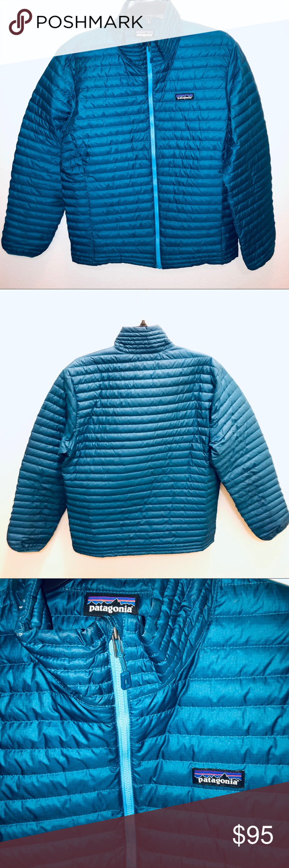 Patagonia men's nano puffer jacket blue Patagonia mens