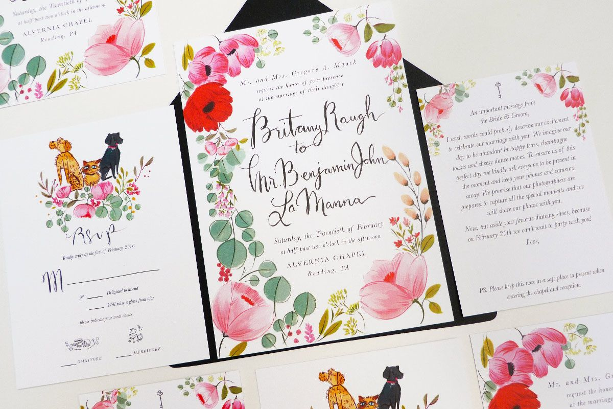 Taylor Swift Bestie Britany Maack Wedding Invitation Illustrated By