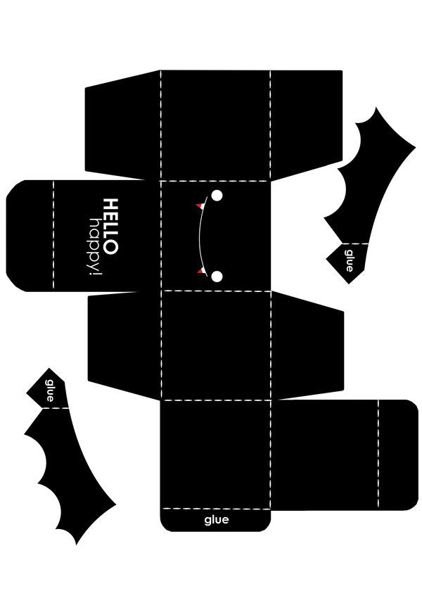 Bat Box Template By Hellohappycrafts On Deviantart  Halloween