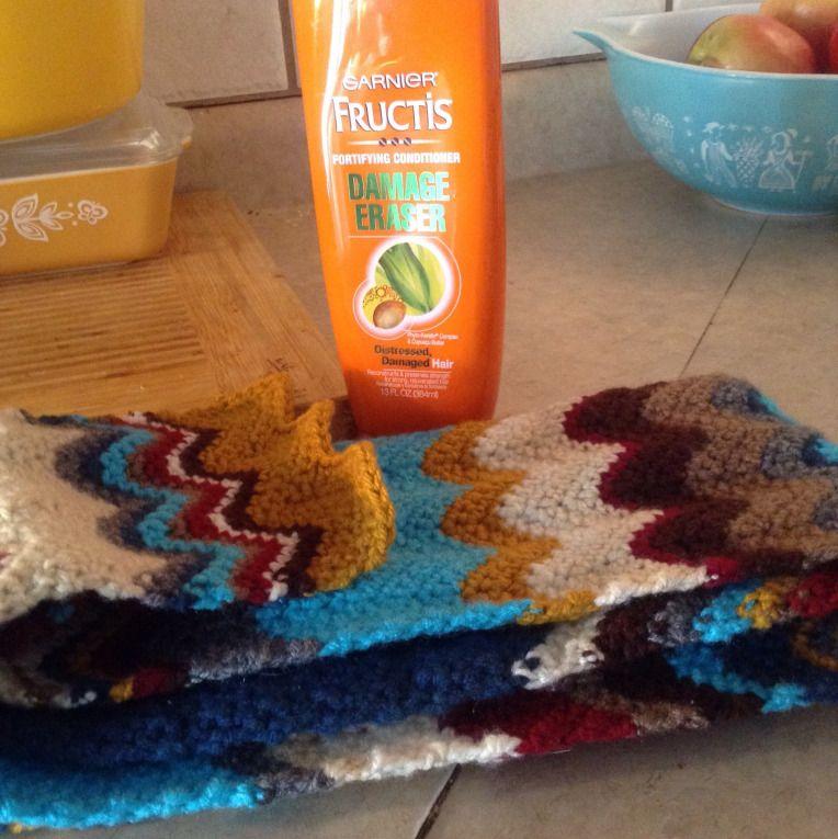Soften that yarn, save yourself some dollars    hooksandhabits