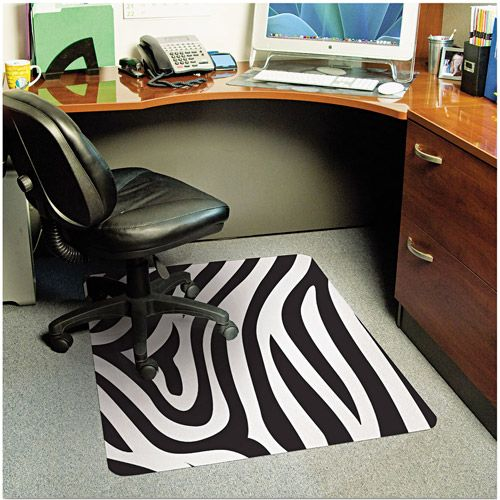 Zebra Print Chair Mat Chair Mats Zebra Print Zebra Decor