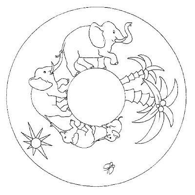 Mandala éléphant #mandala #mandalas #coloriage | Patterns, Drawings ...