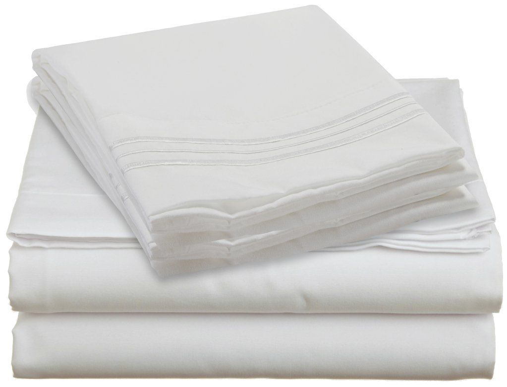 amazon com clara clark premier 1800 series 4pc bed sheet set
