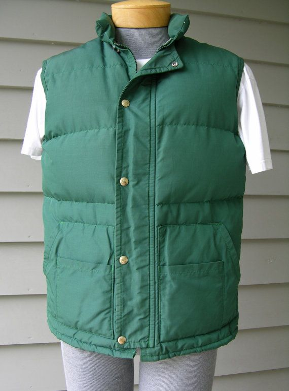 vintage 1970 s men s down vest walls blizzard pruf on walls coveralls for men insulated id=85852
