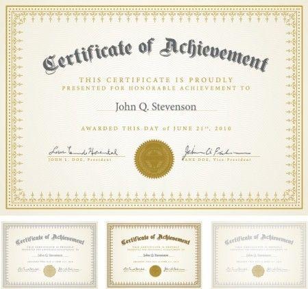 certificate templates 7 diploma pinterest certificate design