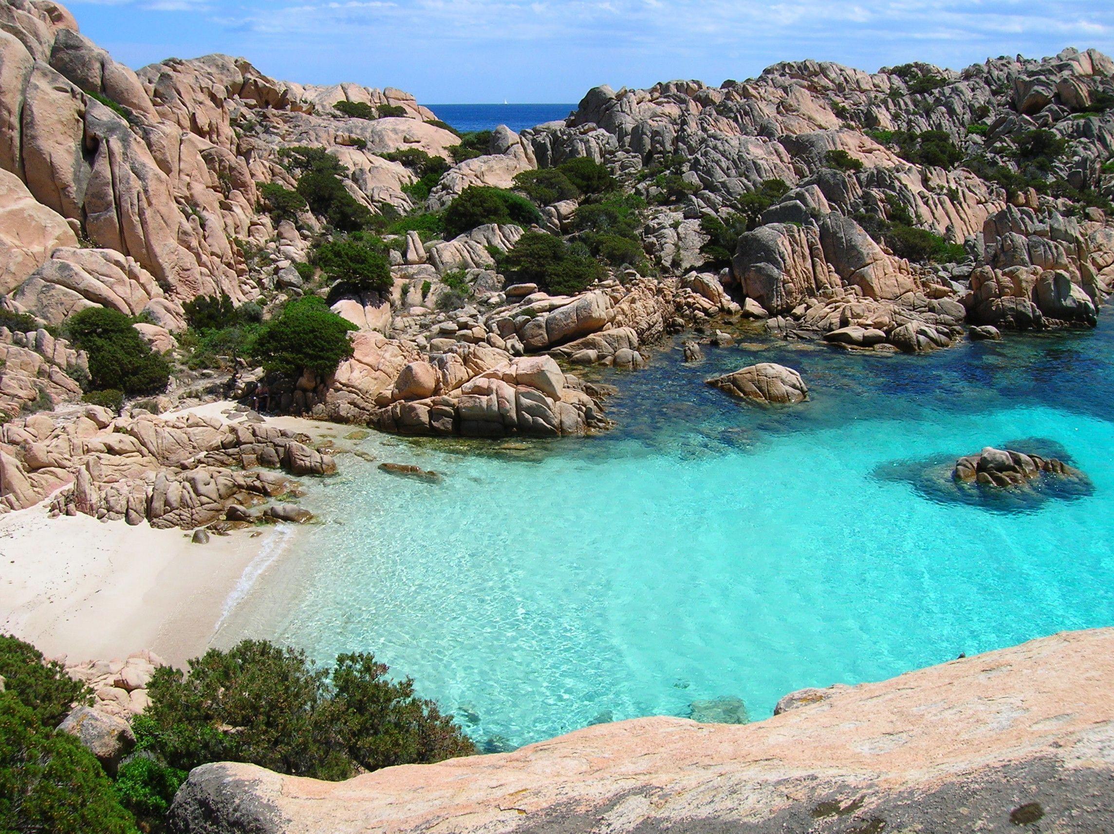 Cala Coticcio Sardinia Italy Also Known As Thaiti Beach This