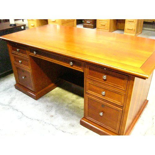 Stanley Cherry Executive Desk $1320. High Quality, Made In America Double  Pedestal Cherry Executive Desk By Stanley Furniture Features Beveled Edges  And ...