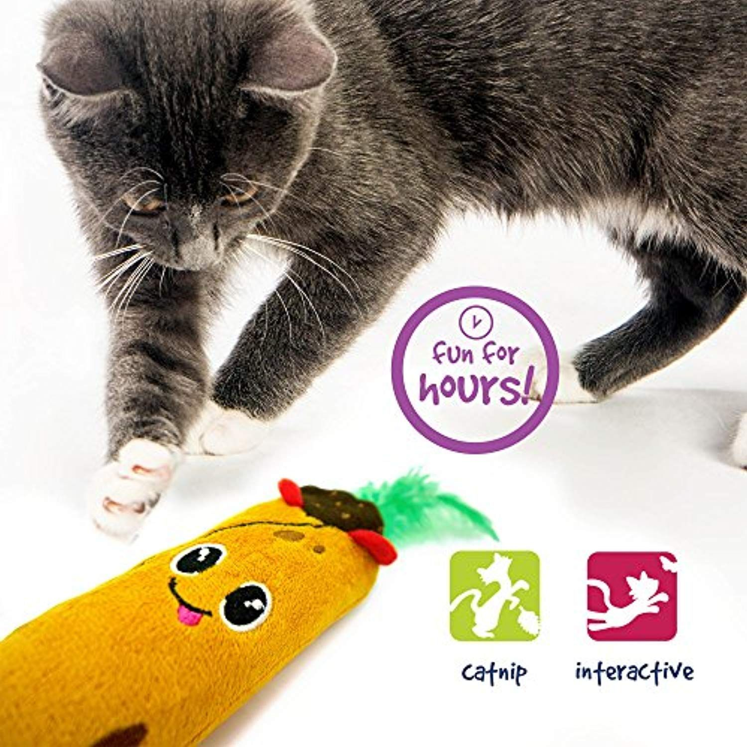 Pet Craft Supply Co Tabby Taco Kicker Funny Enticing Crinkle Kicking Pouncing Cuddling Wrestling Catnip And Silvervine I Cat Toys Cat Pet Supplies Catnip Toys