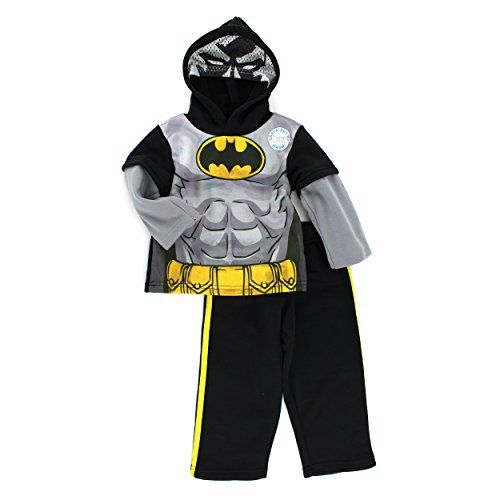 Batman Super Hero Boys Muscle Costume Fleece Pajama Sleeper