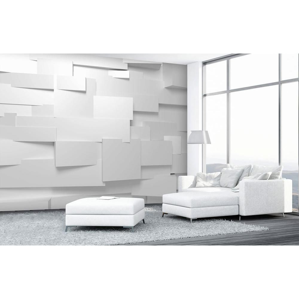 in w x in h d effect wall mural white u offwhite wall