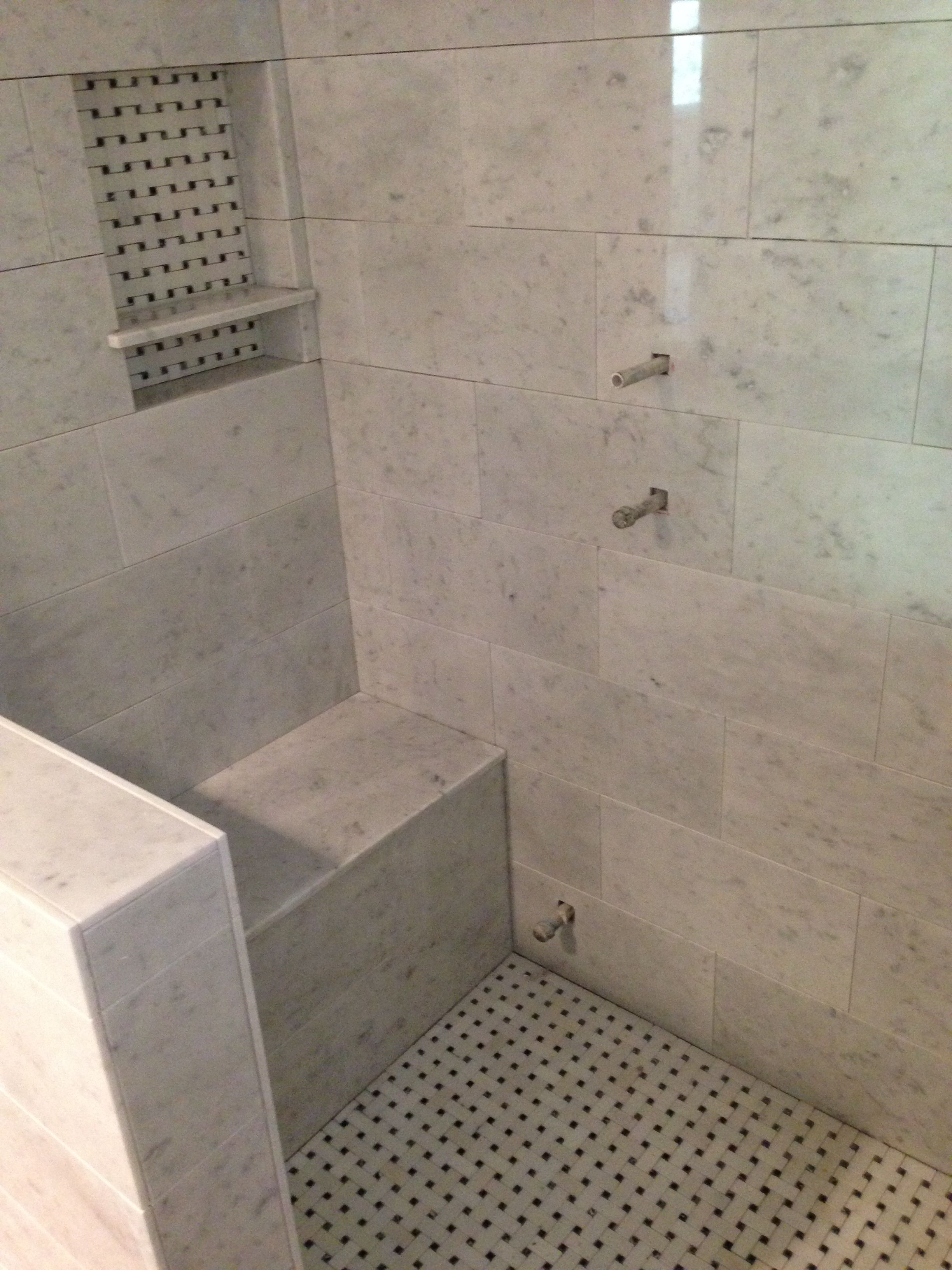 Master bath tile design by Jon Goldstein construction