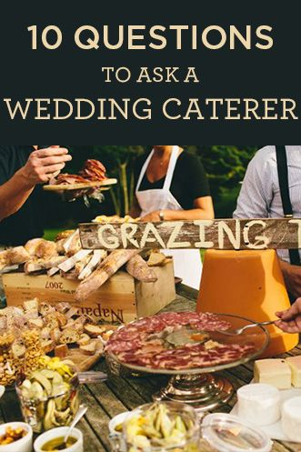 10 questions to ask a wedding caterer