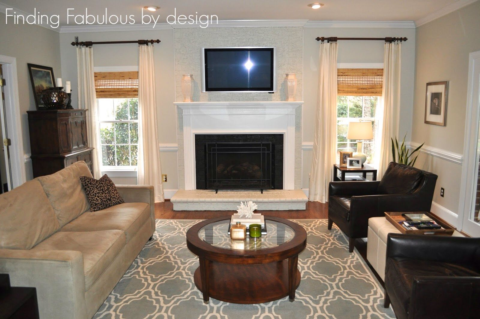 sherwin williams worldly gray living room inspiration painted brick fireplaces grey paint. Black Bedroom Furniture Sets. Home Design Ideas