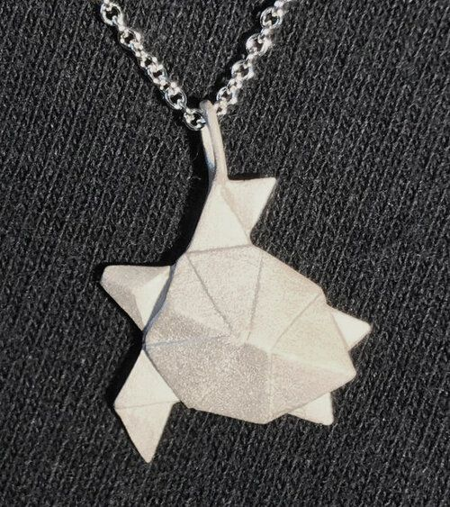 Photo of Origami Turtle Necklace Sterling Silver — All Natural Arts