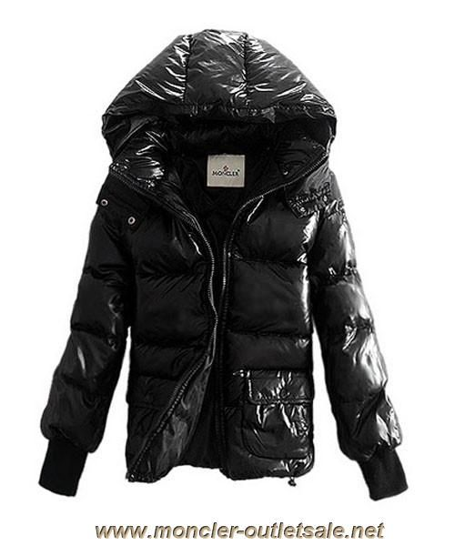 Moncler Down Jackets Women Rib Long Sleeve Shirt Black Outlet