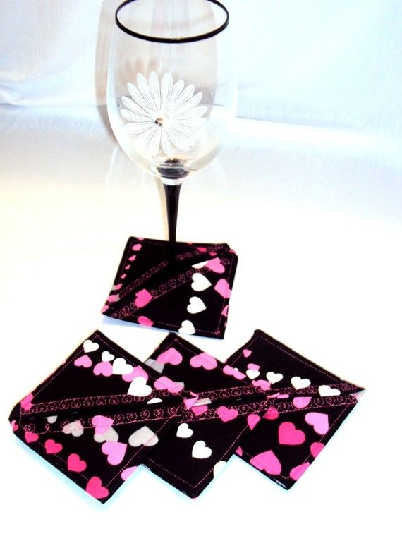 Slippers for your Wine Glasses  pink gray by AngelinaInspirations, $10.00
