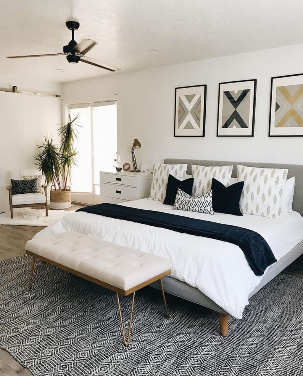 44 Stunning White Master Bedroom Ideas Match For Any Home Design images