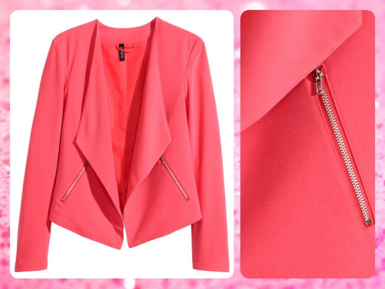 ***AGOTADO*** #MayaBoutiqueCR H&M Código: HMSW-08 Crêpe #jacket Talla: 8 Color: Coral pink Precio: $48,65 (¢26.500) Para pedidos y consultas llamar al teléfono 8963-3317 o al email maya.boutique@hotmail.com.