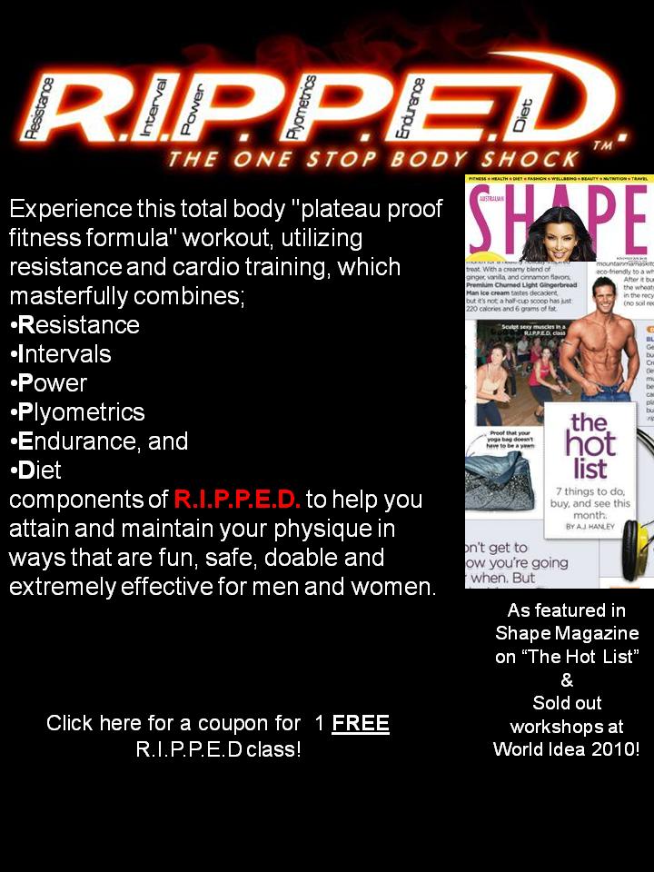 R.I.P.P.E.D. Training - check it out if u haven't heard of it.