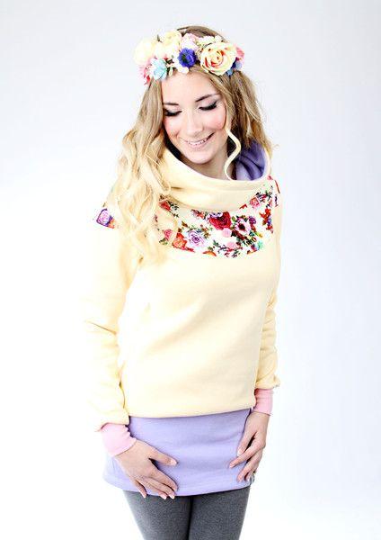 """MEKO """"Flory"""" Kleid Gelb Damen langarm Blumen (mit Bildern ..."""