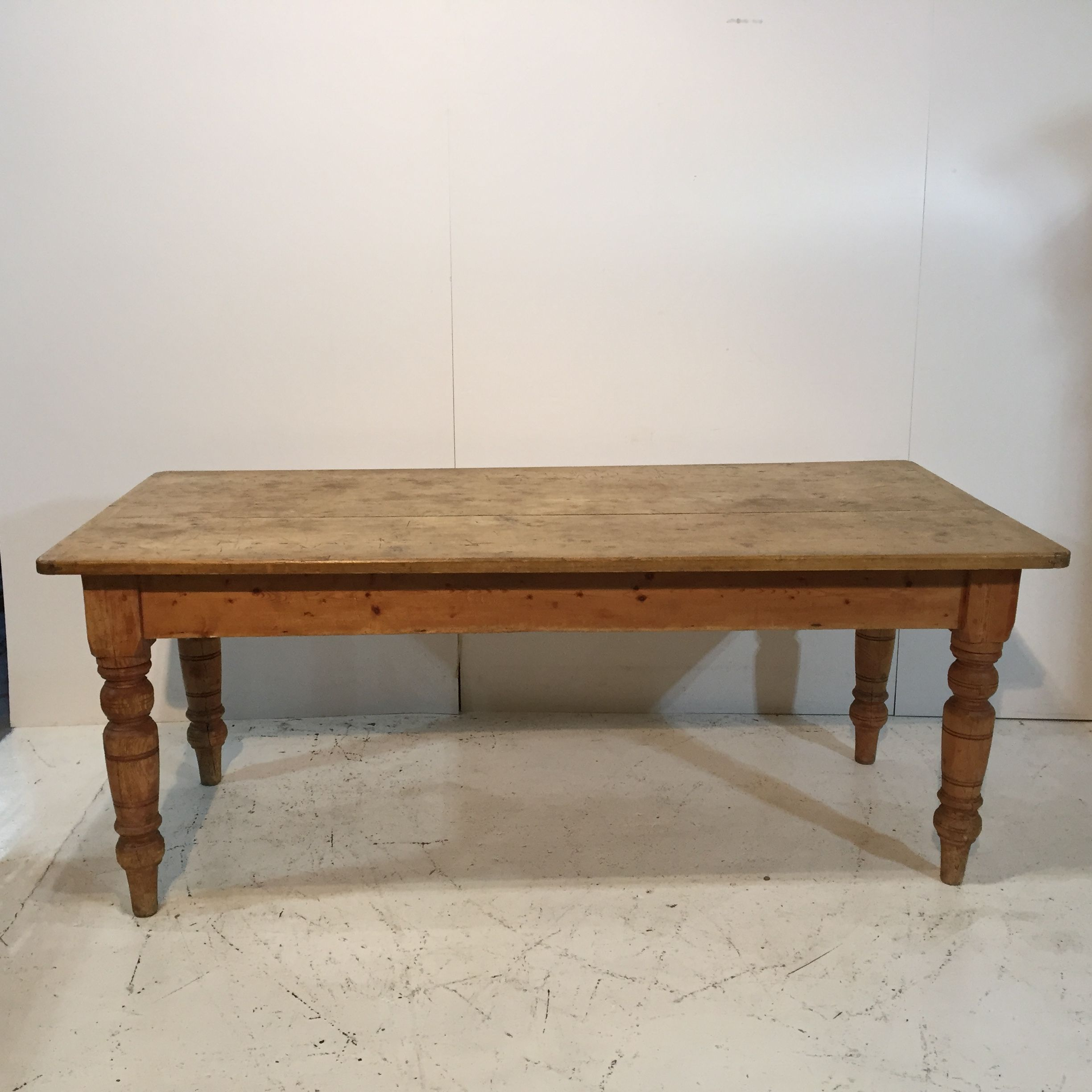 Very Old Rustic Farmhouse Kitchen Table c.1880