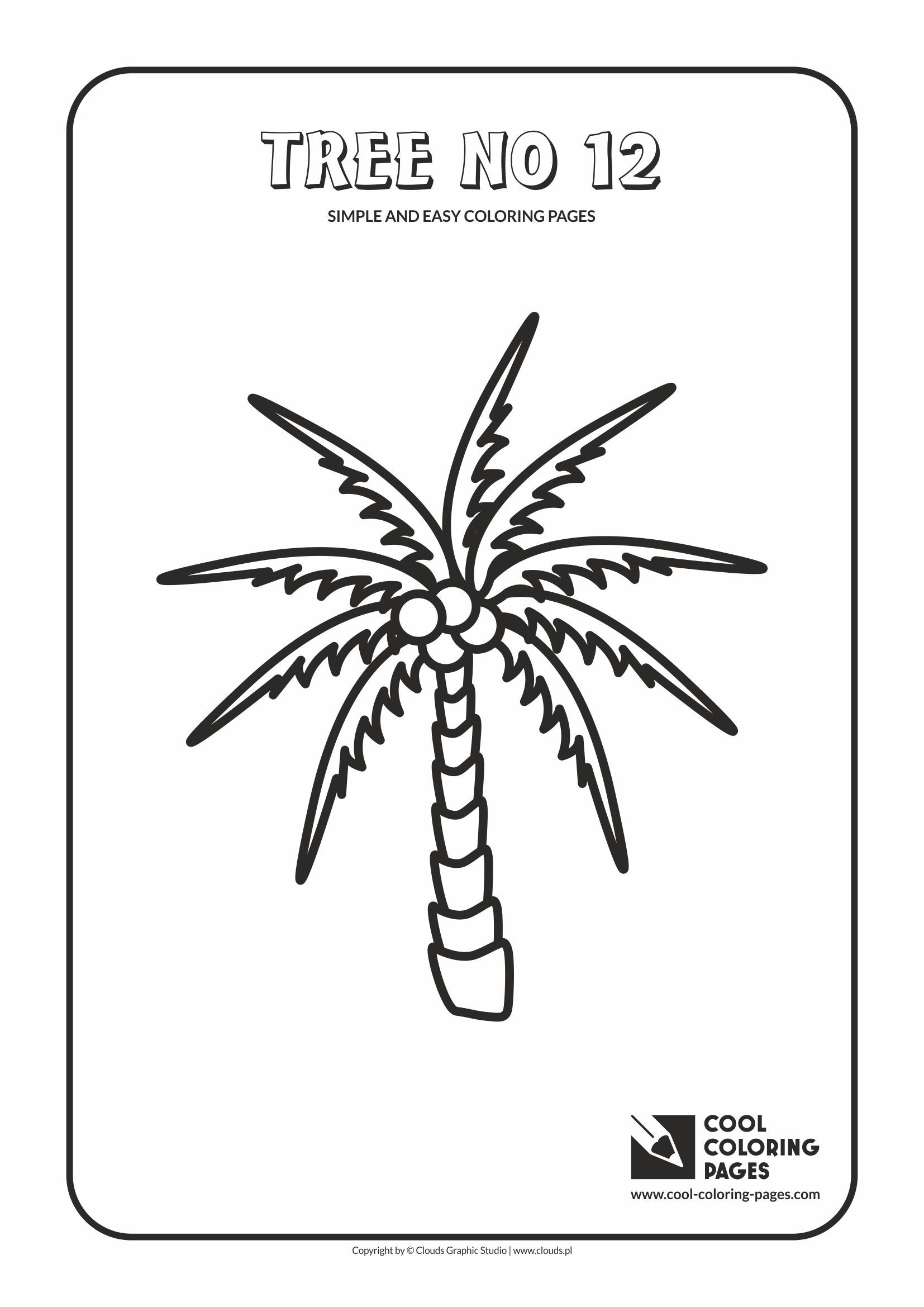 simple and easy coloring pages for toddlers tree no 12 - Simple Colouring Pages For Toddlers